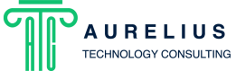Aurelius-technology-consulting-logo-icon-rebranding-branding-green-blue-text