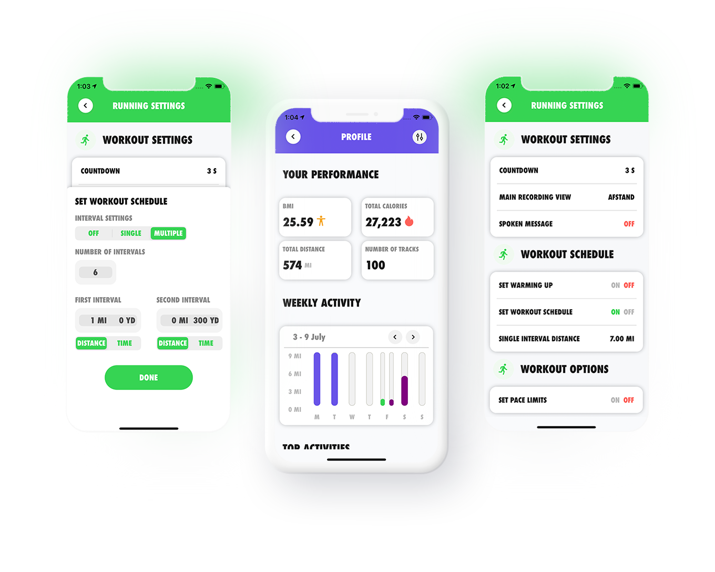 Aurelius-technology-consulting-Tracker-app-interface-settings-iphone-mockup-Running-Biking-Skiing-Track-Tracker-Bicycle-Trek-Share-Holiday-Sport-Ski-GPS-Run-Walk